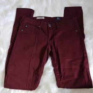 Adriano Goldschmied Burgundy Skinny Pants